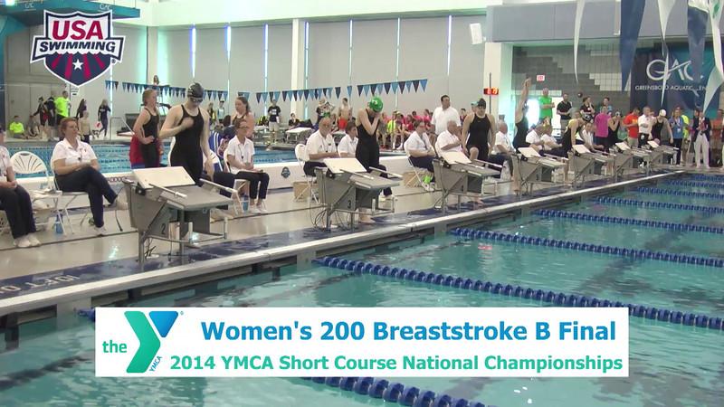W 200 Breaststroke - B Finals