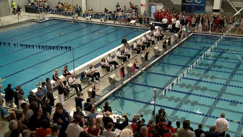 W 200 Backstroke A Final