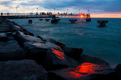 Edgewater Park, Cleveland Ohio, Sunset
