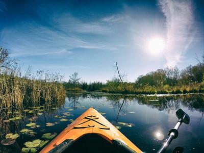 Kayaking in Sherborn
