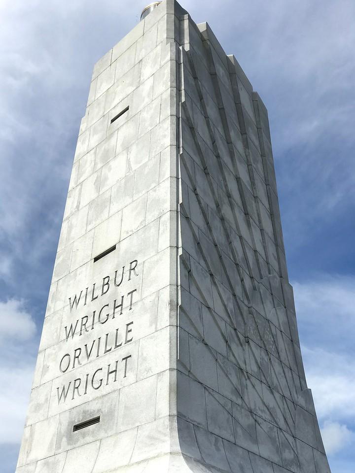 Wright Brothers Natl Memorial.  Kill Devil Hills.  Between Nags Head & Kitty Hawk.
