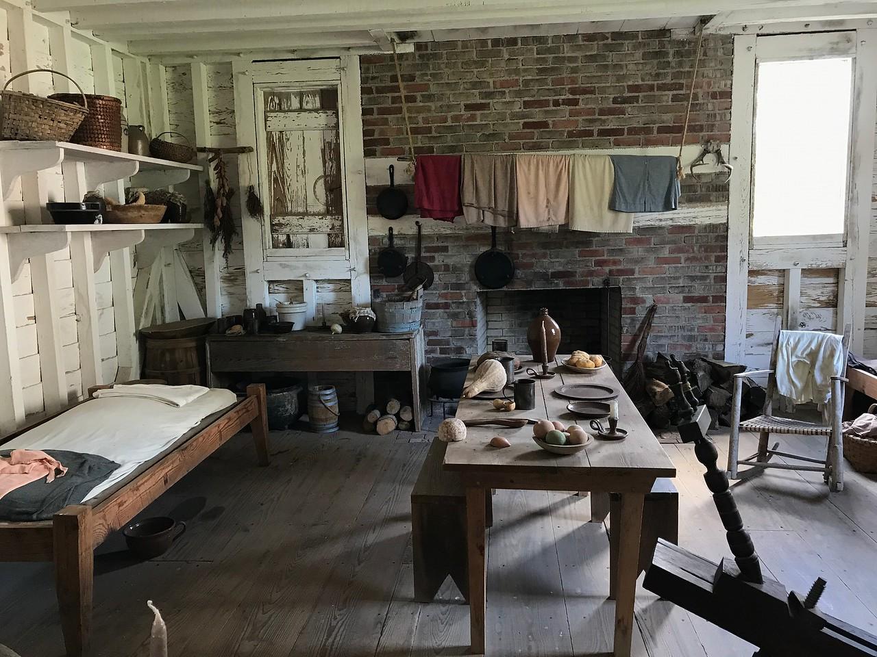 Somerset Plantation - slave quarters kitchen