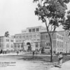 Drawing of the facade of Doheny Library, 1931