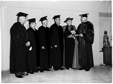 University of Southern California graduation, 1957