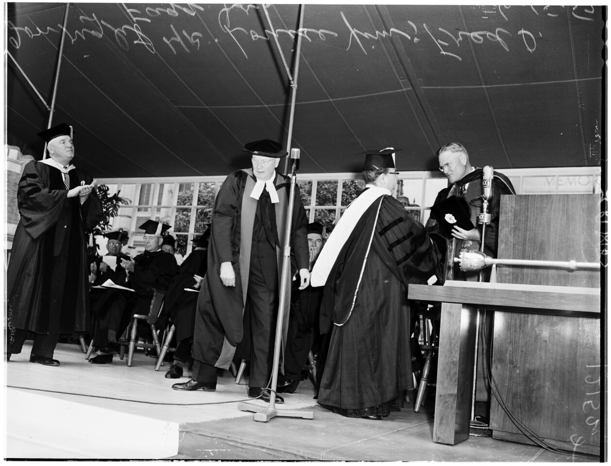 University of Southern California graduation, 1957