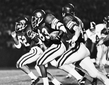 University of Southern California football players during a game, 1972