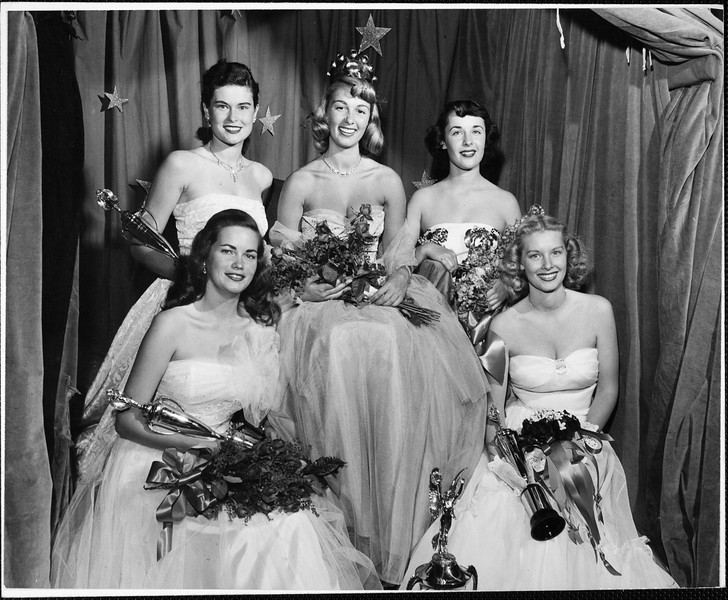 Helen of Troy Virginia Tongue and the members of her Court, 1949