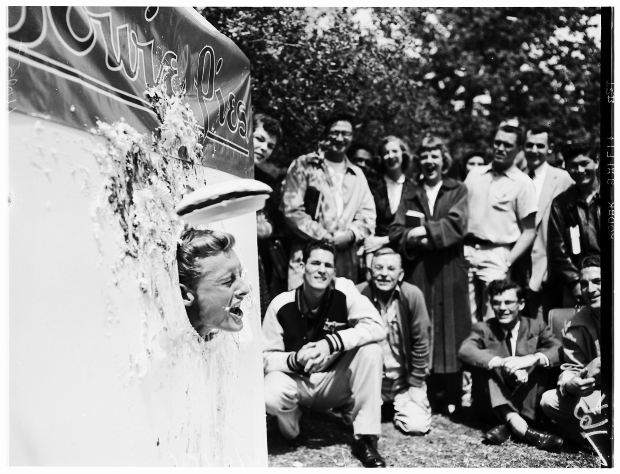Pie throwing (University of Southern California), 1954