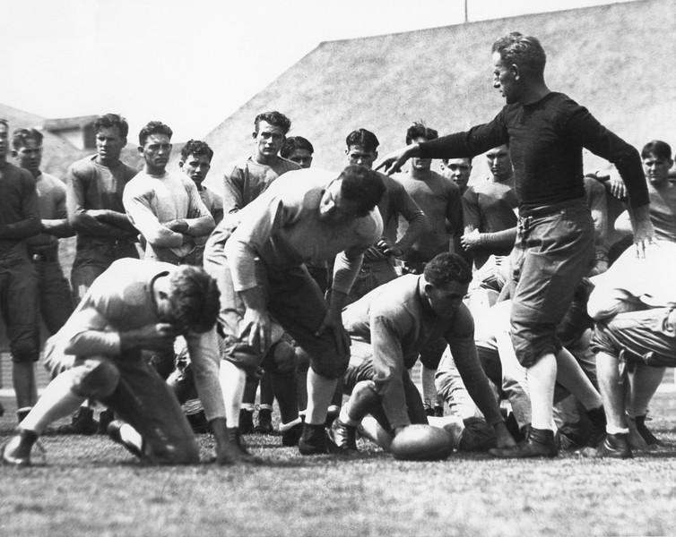 University of Southern California football coach Howard Jones and players, ca. 1926