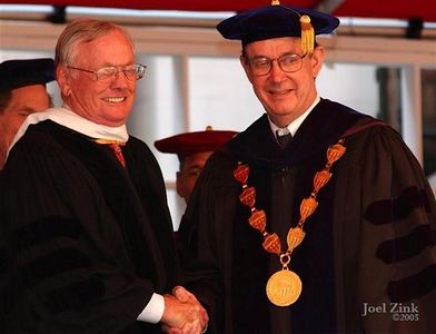 Neil A. Armstrong, Doctor of Humane Letters; Steven B. Sample, 10th President of the University of Southern California