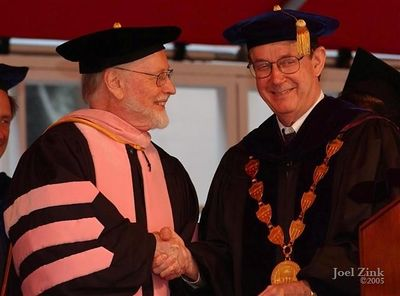 John Williams, Doctor of Music; Steven B. Sample, 10th President of the University of Southern California