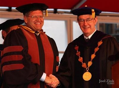 Robert Zemeckis, Doctor of Fine Arts; Steven B. Sample, 10th President of the University of Southern California
