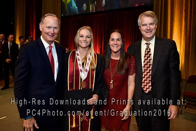 USC Athletics 2016 Graduation