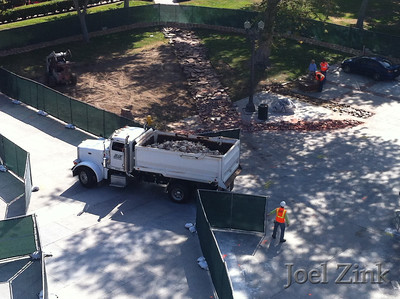 Hahn Plaza Construction - Summer 2012