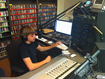 8/24/2010 - The first DJ using the KXSC call letters in the new studio