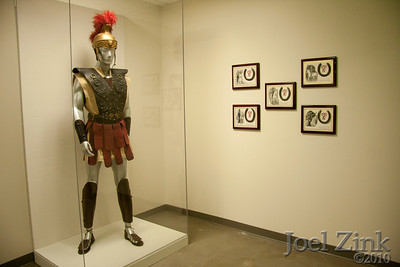 7/29/2010 - Exhibit with the original Traveler rider outfit and horse shoes from previous Travelers installed in the corridor to Traditions