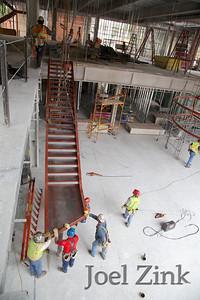 5/21/2013 - media center staircase installation