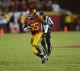 USC Trojans vs Arizona Wildcats, Thursday, October 10th, 2013.  Los Angeles Memorial Coliseum