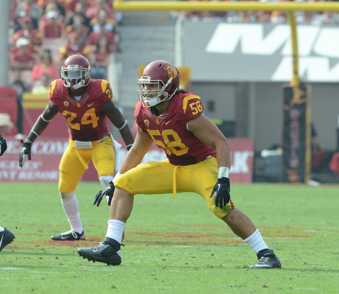 USC Trojans play the University of Utah Utes at the Los Angeles Memorial Coliseum, Saturday, October 26, 2013.