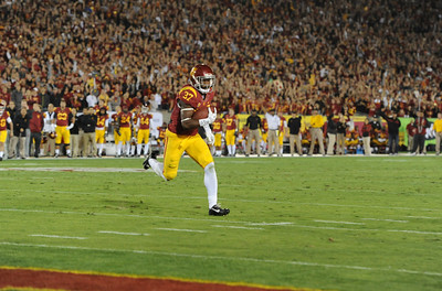 USC Trojans play the Stanford University Cardinal at the Los Angeles Memorial Coliseum, Saturday, November  26, 2013