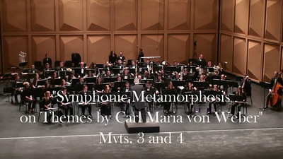 """Symphonic Metamorphosis on Themes by Carl Maria von Weber"" (1943) Paul Hindemith III. Andanatino IV. Marsch"