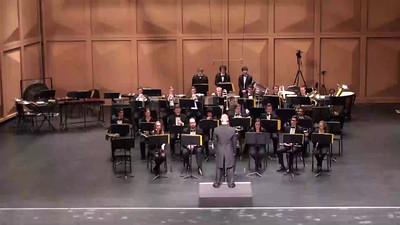 "PAUL HINDEMITH ""Konzertmusik fur Blasorchester, Op 41"" (1926) Jay Sconyers, conductor Bill Anonie, trumpet, Andrew Bonnermann, trombone"