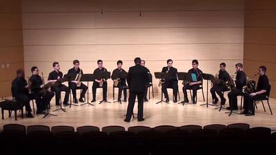"""Flourish for Wind Band"" Ralph Vaughan Williams arr. Andre J. North  USC Saxophone Ensemble"