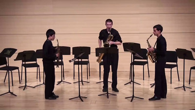 """Trio Sonata"" I. II. III. IV. John Harbison  Dillon Smith, soprano saxophone Jack Gonzales, alto saxophone Christopher J. Whitney, baritone saxophone"