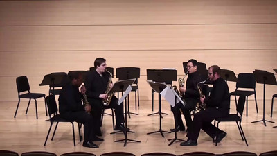 """O Waly, Waly Variations"" Ben Johnston  Sheldon Johnson, soprano saxophone Andrew Wassum, alto saxophone Gabe Fadale, tenor saxophone Po-Fang Chang, baritone saxophone"