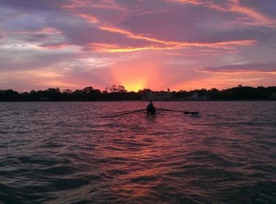 Sunset Rowing