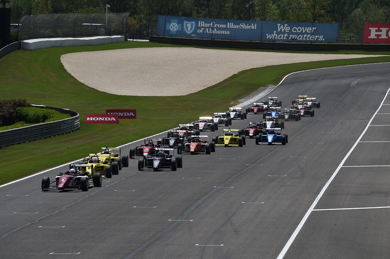 La USF2000 no correrá en Alabama en 2018 (FOTO: Chris Owens/IMS Photo/Road to Indy)