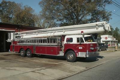 Montgomery AL - Ladder 43 - 1973 ALF 1000 Series 75' Skl C-12-5706