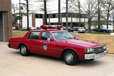 LITTLE ROCK FD  DISTRICT CHIEF 3  1986  CHEVY CAPRICE