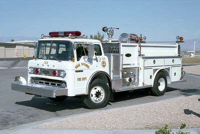 PALM SPRINGS FD  ENGINE 125  1981  FORD C - E-ONE   1000-300