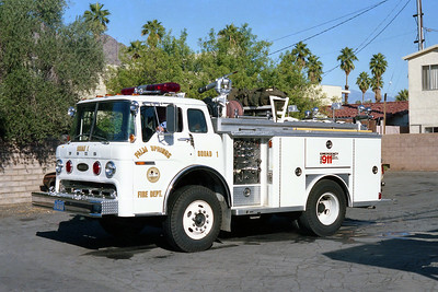 PALM SPRINGS FD  SQUAD 1  1981  FORD C900 - E-ONE   250-500