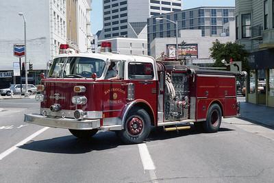 SAN FRANCISCO FD  ENGINE  36  1976  ALF CENTURY   1500-500   2