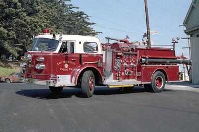SAN FRANCISCO FD  ENGINE 32  1965  ALF 900   1250-500