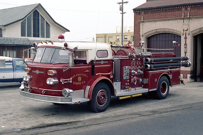 SAN FRANCISCO FD  ENGINE 34  1962  ALF 900   1000-300