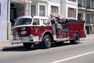 SAN FRANCISCO FD  ENGINE 12  1971  ALF 1000   1500-500
