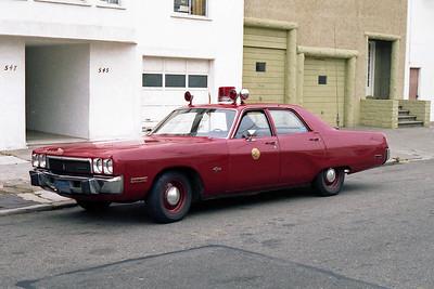 SAN FRANCISCO FD  CAR  PLYMOUTH FURY