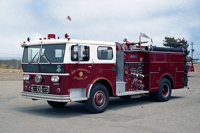 SAN FRANCISCO FD  ENGINE 31  1973  WLF P80   1250-500
