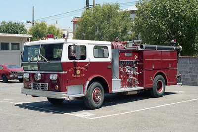 SAN FRANCISCO FD  ENGINE 26  1973  WLF P80   1250-500