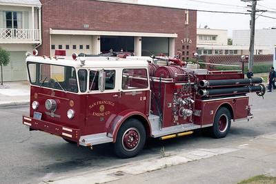 SAN FRANCISCO FD  ENGINE 18  1970  ALF PIONEER   1250-500