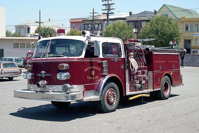 SAN FRANCISCO FD  ENGINE 9  1976  ALF CENTURY   1500-500