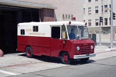 SAN FRANCISCO FD  COMMAND VAN  1967  GMC STEPVAN