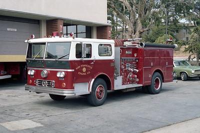 SAN FRANCISCO FD  ENGINE 15  1973  WLF P80   1250-500   ON THE RAMP