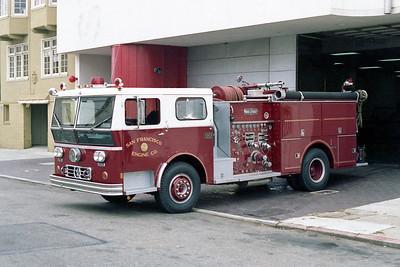 SAN FRANCISCO FD  ENGINE 14  1973  WLF P80   1250-500
