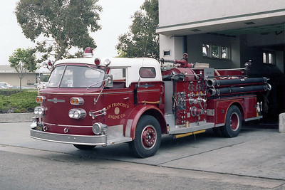SAN FRANCISCO FD  ENGINE 19   1966  ALF 900   1250-300