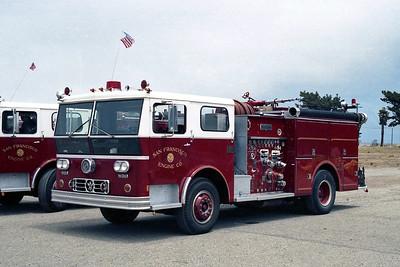 SAN FRANCISCO FD  ENGINE 15  1973  WLF P80   1250-500