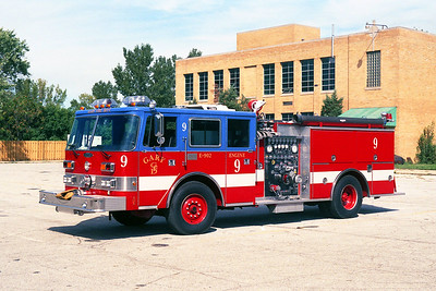 GARY FD IN  ENGINE 9  PIERCE ARROW